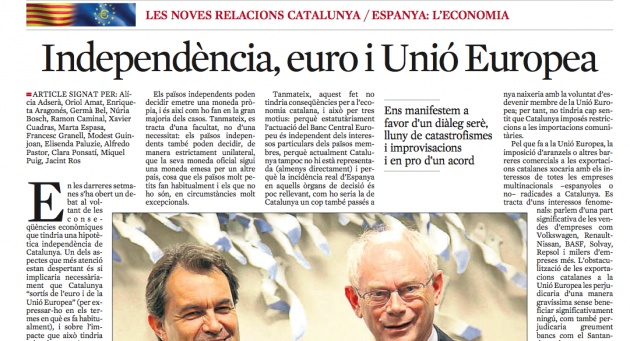 Independence, euro and European Union